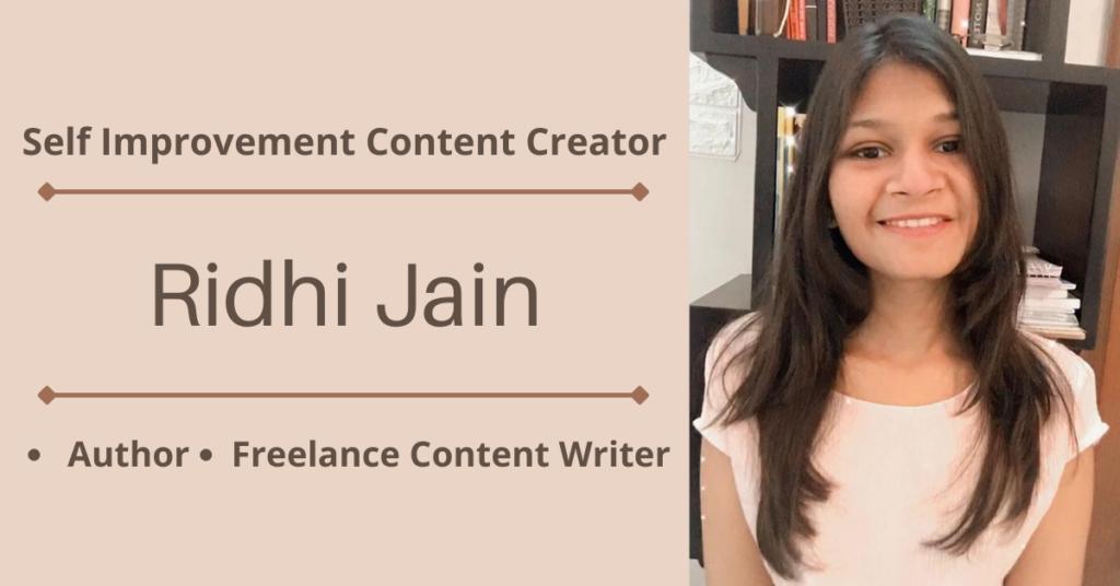 Self Improvement Content Creator Ridhi Jain
